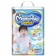 Mamy Poko Pants Extra Soft  ไซส์ L สำหรับเด็กผู้ชาย ห่อ 52 ชิ้น (กางเกง)