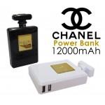 แบตสำรอง น้ำหอม Power Bank Chanel Perfume 12000 mAh สีขาว