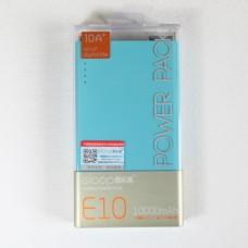 ELOOP E10 Power bank 10000 mAh แถมซองผ้า สีฟ้า