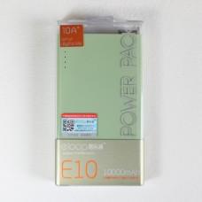 ELOOP E10 Power bank 10000 mAh แถมซองผ้า สีเขียว
