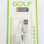 สายชาร์จ lightning iPhone 5/5S,6/6 Plus Golf สีขาว