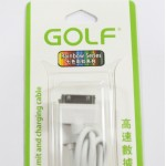 สายชาร์จ iPhone 4/4S Golf สีขาว