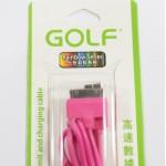 สายชาร์จ iPhone 4/4S Golf สีชมพู