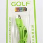 สายชาร์จ Micro USB Golf สีเขียว