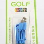 สายชาร์จ Micro USB Golf สีฟ้า