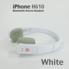 หูฟัง ไร้สาย iPhone H610 iPhone Bluetooth Stereo Headset สีขาว
