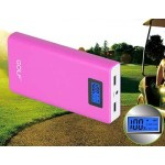 Power Bank GOLF LCD 15600 mAh สีชมพู