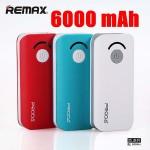 Remax Proda V3 Power bank แบตสำรอง 6000 mAh สีแดง