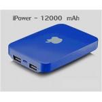 แบตสำรอง Power Bank iPower 12000 mAh สีน้ำเงิน