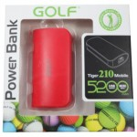 Power Bank Golf 5200 mAh Tiger 210 สีแดง