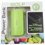 Power Bank Golf 5200 mAh Tiger 210 สีเขียว