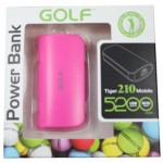 Power Bank Golf 5200 mAh Tiger 210 สีชมพู