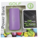 Power Bank Golf 5200 mAh Tiger 210 สีม่วง