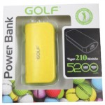Power Bank Golf 5200 mAh Tiger 210 สีเหลือง