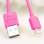 สายชาร์จ iPhone 5 REMAX Safe Charge Speed Data Cable สีชมพู