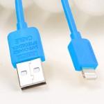สายชาร์จ iPhone 5 REMAX Safe Charge Speed Data Cable สีฟ้า
