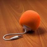 Audio Dock ลำโพง ขนาดพกพา สีส้ม