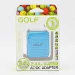 สีฟ้า ที่ชาร์จ GOLF 2 USB CHARGER 2.4A