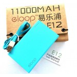 ELOOP E12 Power bank 11000 mAh ฟ้า
