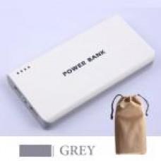 แบตสำรอง Mobile Power 30000 mAh สีเทา + ถุงผ้า สีเทา