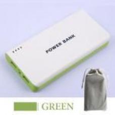 แบตสำรอง Mobile Power 30000 mAh สีเขียว + ถุงผ้า สีเทา