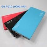 GOLF G10 Power bank แบตสำรอง 10000 mAh สีฟ้าขอบเทา