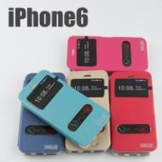เคสเปิดหน้า JOOLZZ iPhone 6 สีชมพูเข้ม