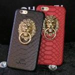 เคส iPhone 5/5S Plastic Pistol หัวสิงโต - แดง