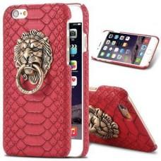 เคส iPhone 6 Plus Plastic Pistol หัวสิงโต - แดง