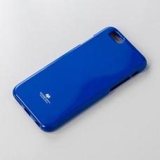 เคส iPhone 6 Plus JELLY GOOSPERY เคสแข็งสีเรียบ สีน้ำเงิน