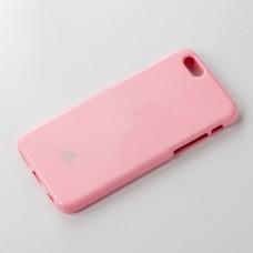 เคส iPhone 6 Plus JELLY GOOSPERY เคสแข็งสีเรียบ สีชมพูอ่อน