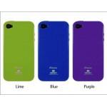 เคส iPhone 4/4s JELLY GOOSPERY เคสแข็งสีเรียบ สีน้ำเงิน
