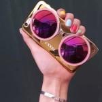 เคส iPhone 6 Plus CXXEL สีทอง-เลนส์ชมพู