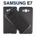 เคส Samsung Galaxy E7 ซิลิโคน ลายเคฟล่า