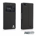 เคส AIS Super Combo Pro 5.0 (LAVA STAR) Case เคสฝาพับเนื้อผ้าคุณภาพดี - สีเทาเข้ม