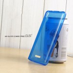 เคส AIS Super Combo Pro 5.5 (LAVA GRAND) เคสยางนิ่ม TPU สีเรียบ พร้อมจุด Pixel ขนาดเล็กด้านในเคสป้องกันเคสติดกับตัวเครื่อง สีน้ำเงิน