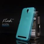 เคส Alcatel Onetouch Flash Plus เคสนิ่ม ซิลิโคน ป้องกันรอยนิ้วมือบนตัวเคส สีฟ้า