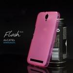 เคส Alcatel Onetouch Flash Plus เคสนิ่ม ซิลิโคน ป้องกันรอยนิ้วมือบนตัวเคส สีชมพู