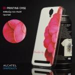 เคส Alcatel onetouch Flash Plus เคสแข็งพิมพ์ลายนูน คุณภาพดี ลาย E