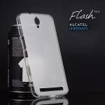 เคส Alcatel Onetouch Flash Plus เคสนิ่ม ซิลิโคน ป้องกันรอยนิ้วมือบนตัวเคส สีขาว
