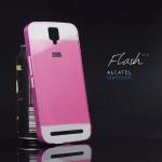 เคส Alcatel onetouch Flash Plus ขอบกันกระแทก Bumper พร้อมฝาหลัง อะครีลิค สีชมพู