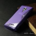 เคส Alcatel Onetouch Flash 2 เคสนิ่ม TPU แบบทูโทน สีม่วง
