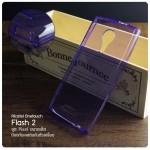 เคส Alcatel Onetouch Flash 2 เคสนิ่ม Slim TPU (ผิวมัน) พร้อมจุด Pixel ขนาดเล็กด้านในเคสป้องกันเคสติดกับตัวเครื่อง สีม่วงใส