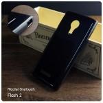 เคส Alcatel Onetouch Flash 2 เคสนิ่ม Slim TPU (ผิวมัน) พร้อมจุด Pixel ขนาดเล็กด้านในเคสป้องกันเคสติดกับตัวเครื่อง สีดำทึบ