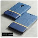 เคส Alcatel Onetouch Flash 2 เคสฝาพับหนัง PVC มีช่องใส่บัตร สีน้ำเงิน