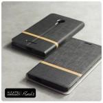 เคส Alcatel Onetouch Flash 2 เคสฝาพับหนัง PVC มีช่องใส่บัตร สีดำ