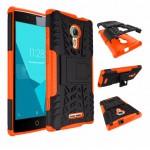 เคส Alcatel One Touch Flash 2 กรอบบั๊มเปอร์ กันกระแทก Defender สีส้ม (เป็นขาตั้งได้)