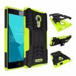 เคส Alcatel One Touch Flash 2 กรอบบั๊มเปอร์ กันกระแทก Defender สีเขียวอ่อน (เป็นขาตั้งได้)