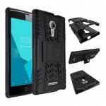 เคส Alcatel One Touch Flash 2 กรอบบั๊มเปอร์ กันกระแทก Defender สีดำ (เป็นขาตั้งได้)