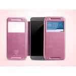 เคส HTC ONE M9 เคสฝาพับ KLD สีชมพู